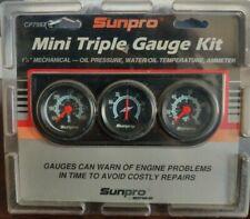 Sunpro Co7997 Mini Triple Gauge Kit Black