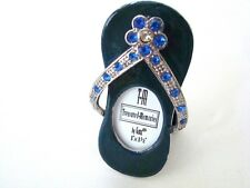 Photo Frame: Jeweled and Blue Enamel Flip Flop Picture Frame by Ganz New