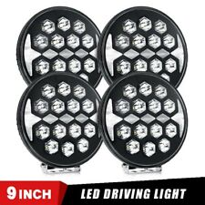 4X 9in 150W Round LED Work Light Bar Spot Pod Offroad Truck Fog Lamp SUV 4WD DRL