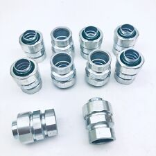 """LOT OF 10 TOPAZ #272 STEEL COMPRESSION 3/4"""" TYPE COUPLING EMT TO LIQUID-TIGHT"""