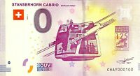 BILLET 0  EURO STANSERHORN CABRIO  SUISSE 2018 NUMERO 100