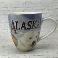 Alaska Last Frontier Coffee Mug Cup Polar Bears Alaska Map Ceramic