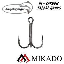 Mikado Hi Carbon Treble Hooks Drilling Angelhaken Drillinge Meeresdrillinge