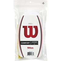 Wilson  - WRZ4017WH - Comfort Tennis Pro Racket Overgrip 30 Pack - WHITE