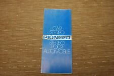 Pioneer Car Stereo KPX9000 KP88G AD50 TSX9 more Original Catalogue Brochure