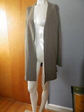 Eileen Fisher Women's Olive Green Silk Open Front Cardigan Sweater Size S