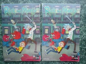 Rick & Morty #1 SDCC Lenticular [LOT OF 2] (133, 134/2000) NEW SEALED (Oni)