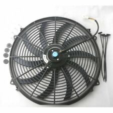 16 inch Universal Slim Fan Push Pull Electric Radiator Cooling 12V w/ Mount Kit