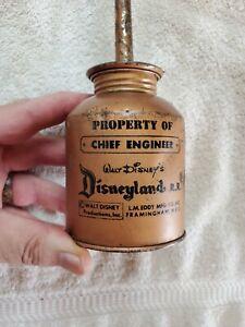 Rare DISNEYLAND RR Chief Engineer Oiler  Oil Can Walt Disney 1950-1960s  Train