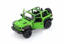 "5"" Kinsmart Jeep Wrangler Rubicon No Hard Top Diecast Model Toy Car 1:34 Green"