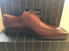 Ermenegildo Zegna 11-1/2 D Brown Leather Tie Shoe