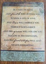 'Be a man of faith' laminated wallet prayer card