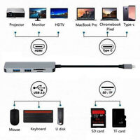 5 In1 Type C Hub 4K HDMI Output USB 3.0 Port SD/Carte Tf Lecteur Adaptateur