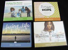 JOYCE MEYER 4 Conference CD DVD Set Audio Book Living w Hope Facing Life 10 Disc