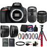 Nikon D5600 DSLR Camera with 18-55mm Lens, 70-300mm Lens and Accessory Bundle