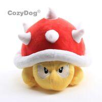 "Super Mario Bros. Spiny Koopa Plush Soft Toy Doll Stuffed Animal 8.5"" Kids Gift"