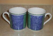 2 VILLEROY & BOCH SWITCH 3 COSTA Mugs Cups Blue/Green