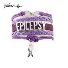 Lovely Friendship Epilepsy Awareness infinity Bracelet. In Organza Gift bag