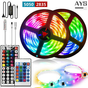 Waterproof RGB 5050/2835 LED Light Strips Ribbon Band 12V with Remote Controller