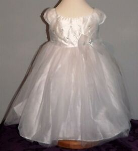 La Princess, White, party, special occasion or bridesmaid dress, Age 2T, NWOT