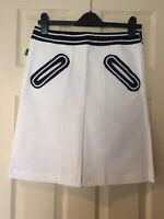 MOSCHINO JEANS front pleat skirt high waist Size IT 42 Uk 10 NEW Never Worn