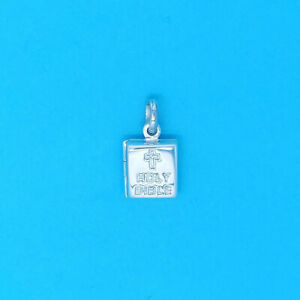 Genuine 925 Sterling Silver Opening Holy Bible Charm