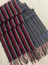 POLO RALPH LAUREN REVERSIBLE DOUBLE FACE STRIPE WOOL BLEND SCARF MADE IN ITALY