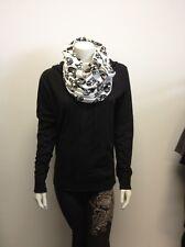 Women's Fashion Infinity SKULL Scarf WHITE or BLACK Ladies OSFM Biker Gothic