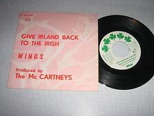 WINGS PAUL MAC CARTNEY 45 TOURS BELGIQUE GIE IRLAND BAC