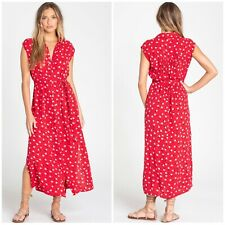 Billabong Little Flirt Havana Red Midi Dress Size M RRP £60