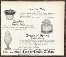 1962 Carolina Soap & Candle Makers Southern Pines NC Print Ad