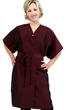 "Set of 6 PEWTER Salon & Spa Client Gowns Robes Kimono's ""NEW"" BEST in Industry!"