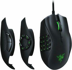 Razer Naga Trinity MMO Gaming Mouse Interchangeable Side Plate 16000 DPI
