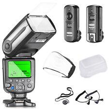 Neewer Kit NW565EX E-TTL Slave Flash+Trigger+Diffusori+Copriobiettivo per Canon