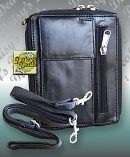 Leather Smart Cell Phone Organizer Purse Wallet Cross Body Bag