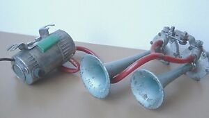 AIR HORNS FIAMM MERCURY TA/0 IGM 0874 KA 1960 COMPRESSOR MC/O FERRARI MASERATI