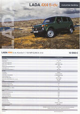 2018 MY Lada 4x4 5 door 10 / 2017 catalogue brochure Slovakia Slovaquie Niva
