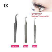Individual Eyelash Extension Tweezers Swiss Quality Fanning Straight Curved New