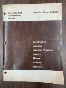 CUMMINS DIESEL ENGINE OPERATION & MAINTENANCE MANUAL OPERATOR GUIDE, FORM 983711