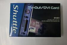 New Shuttle AGP TV-out/DVI Card CV21 in the box