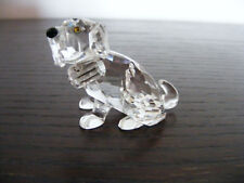 "Swarovski  St. Bernard  Dog  Puppy  With Barrel  Ht. 1.1/2"" Swan Logo (Retired)"