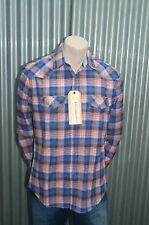 191 Unlimited Blue & Pink Plaid Button-Up Woven NWT M