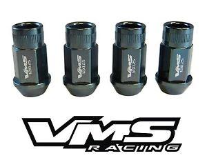 VMS RACING 16PC 44MM EXTENDED WHEEL LUG NUTS 12X1.25 DARK GUNMETAL FOR NISSAN