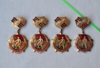 USSR medal 25 Years Victory WW2 Lot 4x Soviet Army pins Russian veteran badge
