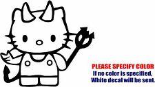 "Hello Kitty Devil #13 Graphic Die Cut decal sticker Car Truck Boat Window 9"""