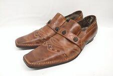 Mark Nason Lounge U Rock Slip On Brown Leather Studded Loafers Shoes Men 8.5M US