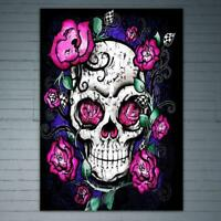 DIY Skull Head 5D Full Drill Diamond Painting Cross Stitch Kits Decor