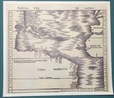 Antique 1513 Tabvla Terre Nove The Admirals New World Map Vintage Copy