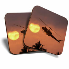 2 x Coasters - Helicopter Sunset Vietnam War Home Gift #21677