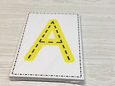A - Z Uppercase And Lowercase Tracing Letter Cards - 52  Large Cards Preschool